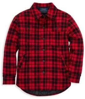 Ralph Lauren Childrenswear Baby Boy's Plaid Double-Knit Shirt