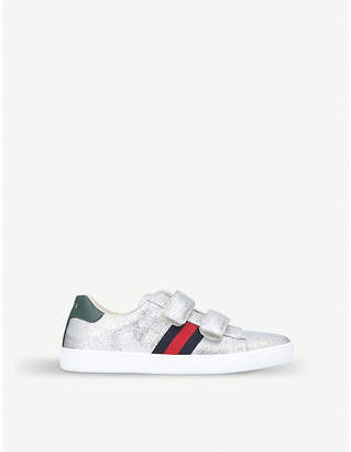 Gucci New Ace VL glitter trainers 8-11 years