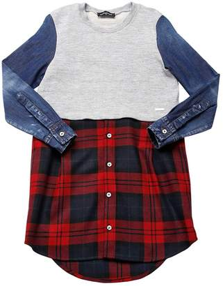 DSQUARED2 Cotton Sweatshirt, Denim & Flannel Dress