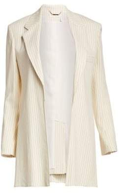 Chloé Tennis Stripe Wool No Button Blazer