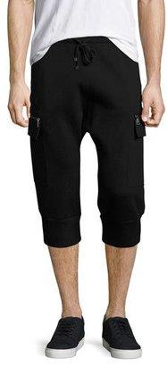 Helmut Lang Cropped Cargo Track Pants, Black $310 thestylecure.com