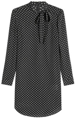 RED Valentino Silk Polka Dot Dress