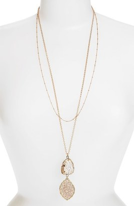 Women's Panacea Stone & Beaded Crystal Pendant Layered Necklace $45 thestylecure.com