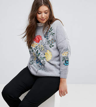 Simply Be Embroidered Jumper