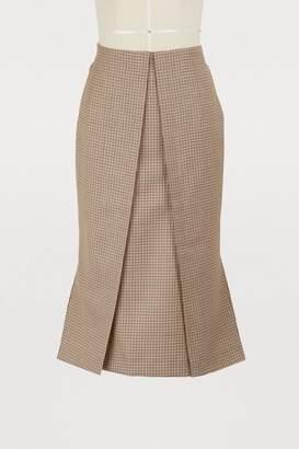 Aalto Midi wool skirt