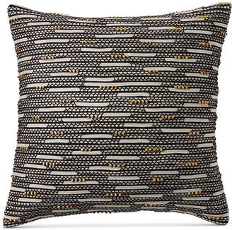 "Hotel Collection Closeout! Global Stripe Beaded 22"" Square Decorative Pillow, Created for Macy's Bedding"