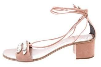 Giuseppe Zanotti Jewel-Embellished Lace-Up Sandals