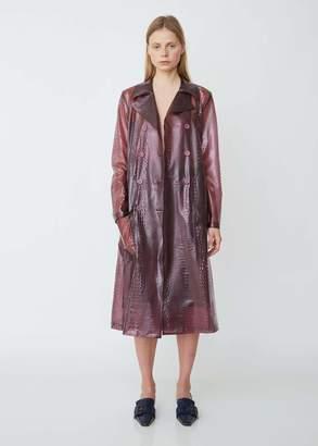 Sies Marjan Nisa Embossed Plastic Trench Coat
