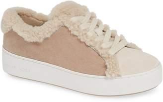 MICHAEL Michael Kors Poppy Genuine Shearling Trim Platform Sneaker