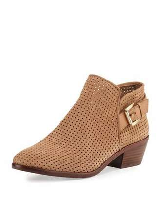Sam Edelman Paula Perforated Suede Bootie, Beige $140 thestylecure.com