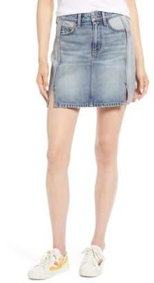 Current/Elliott Reversed Denim Miniskirt