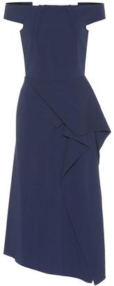 Roland Mouret Arch off-the-shoulder midi dress