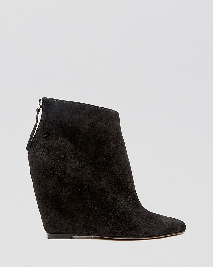 Dolce Vita Pointed Toe Wedge Booties - Beryl