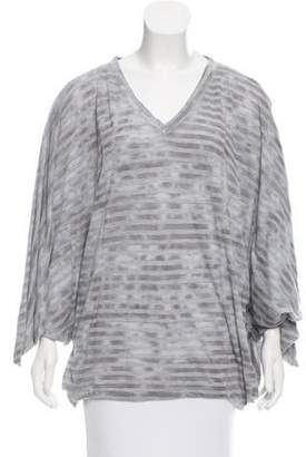 Elizabeth and James Tie-Accented Striped Top