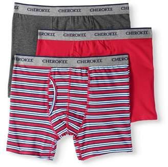 Cherokee Men's Cotton Stretch Boxer Briefs 3 Pack