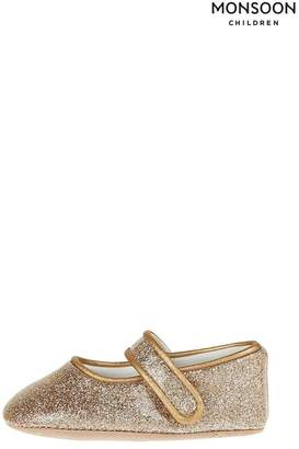 Monsoon Girls Baby Brianna Gold Glitter Booties - Gold