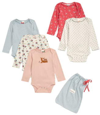 Boden Mini 5-Pack Print Bodysuits