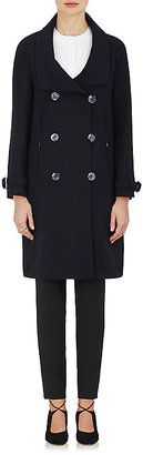 Armani Women's Stretch-Wool Double-Breasted Coat $5,095 thestylecure.com