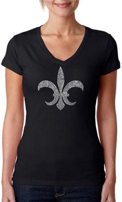 LOS ANGELES POP ART Los Angeles Pop Art Fleur De Lis - Popular Louisiana Cities Graphic T-Shirt