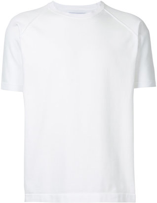 ribbed round neck T-shirt