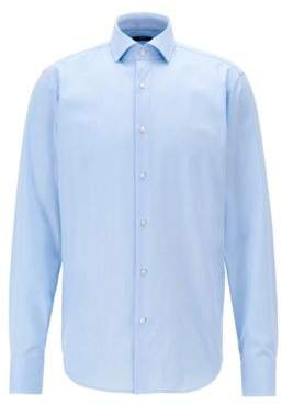 BOSS Hugo Regular-fit shirt in solid cotton twill 16 Light Blue