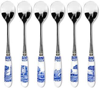 Spode Set of 6 Porcelain Teaspoons