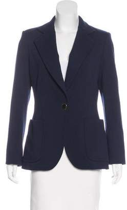 Derek Lam Notch-Lapel Button-Up Blazer