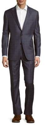 Hickey Freeman Classic-Fit Milburn Wool Plaid Suit