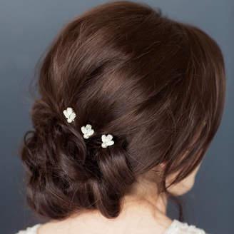 Swarovski Corrine Smith Design Set Of Three White Opal Crystal Hairpins