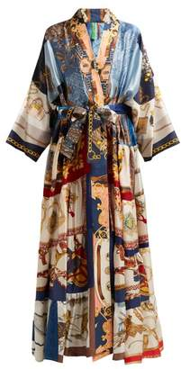 Rianna + Nina - Patchwork Print Silk Kimono - Womens - Multi