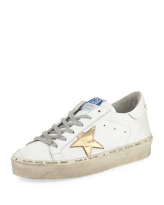 Golden Goose Hi Star Leather Platform Sneaker