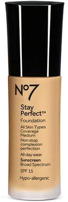 Boots No7 Stay Perfect Foundation 30ml - Honey by