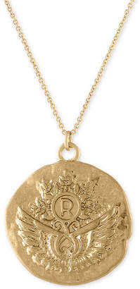 "Rachel Roy Gold-Tone Unicorn Reversible Pendant Necklace, 30"" + 2"" extender"