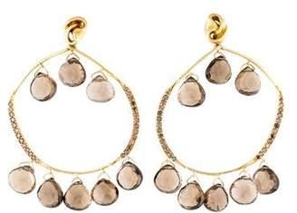 Mary Esses 18K Smoky Quartz & Diamond Chandelier Earrings