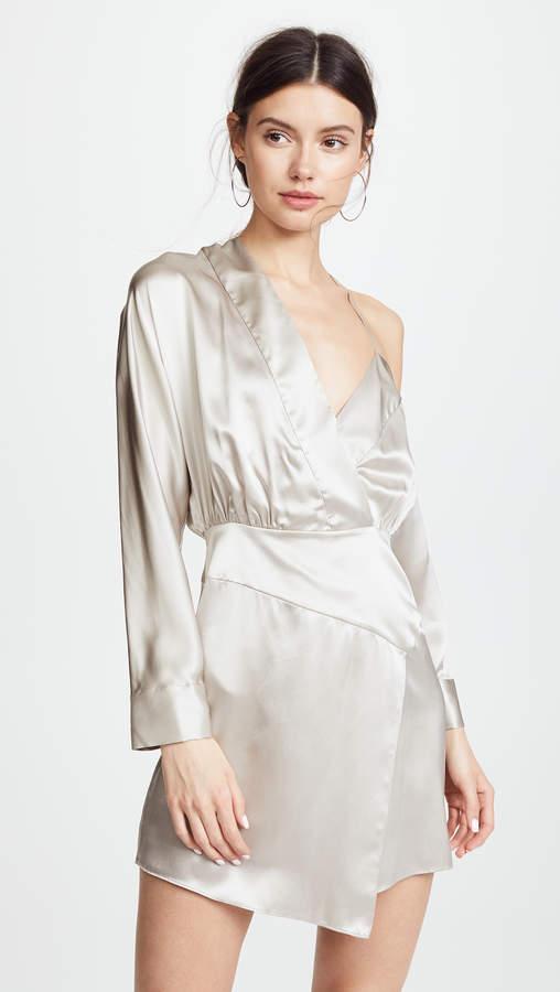 Michelle Mason Off Shoulder Mini Dress