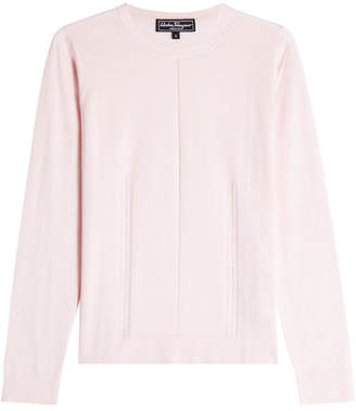 Salvatore Ferragamo Cashmere Pullover with Silk
