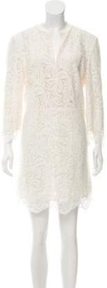 Just Cavalli Lace-Accented Mini Dress