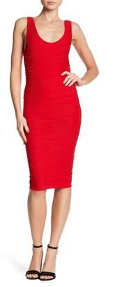 Bebe Scoop Neck Bodycon Textured Dress
