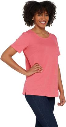 Joan Rivers Classics Collection Joan Rivers Wardrobe Builders Textured Knit Tee Shirt