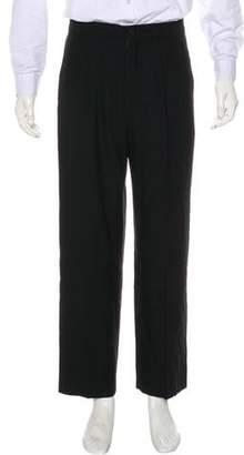 Giorgio Armani Flat Front Wool Dress Pants
