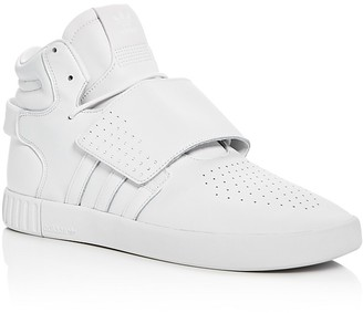 Adidas Men's Tubular Invader Strap High Top Sneakers $100 thestylecure.com