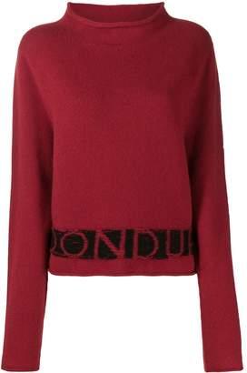 Dondup logo embroidered jumper