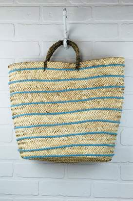 The House of Perna Striped Straw Tote