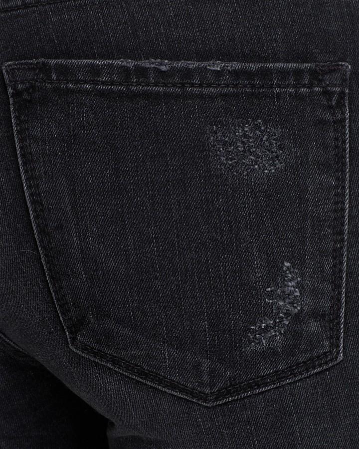 Vince Jeans - Dylan Skinny Painted Stripe in Destructed Black