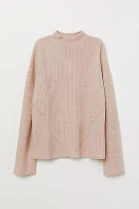 H&M Hole-pattern Cashmere Sweater - Orange