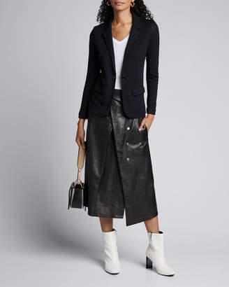 Majestic One-Button Long Sleeve Blazer w/ Two Pockets