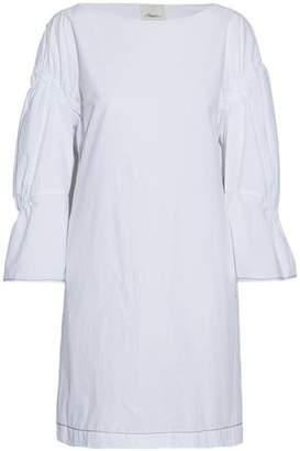 3.1 Phillip Lim Gathered Cotton-Poplin Mini Dress