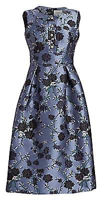Erdem Women's Davinia Embroidered Floral Fit-And-Flare Dress