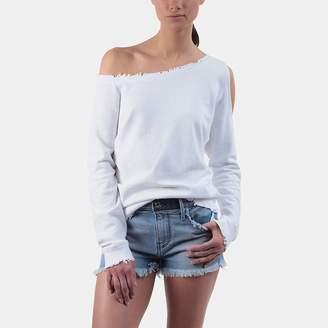 RtA Willow Off-the-Shoulder Cutout Sweatshirt