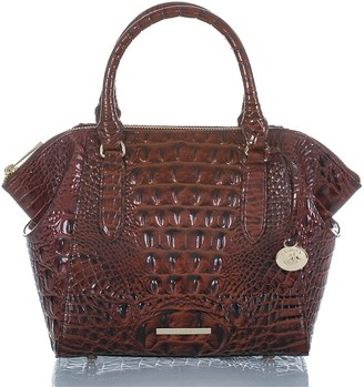 Brahmin Mini Camila Croc Embossed Leather Satchel